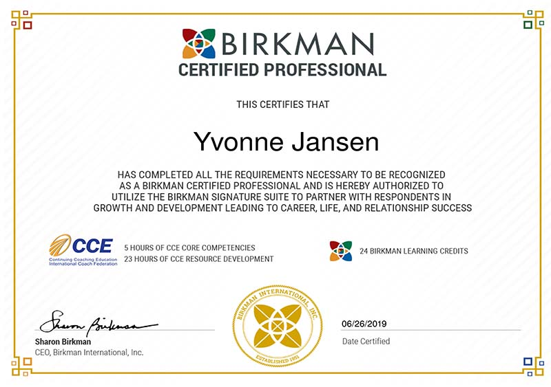 certified professional birkman methode